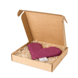 Purple sweetheart wheat warmer in box