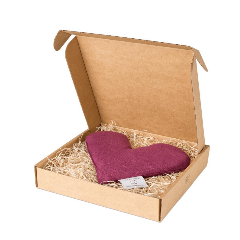 Lila sweetheart vetevärmare i förpackning