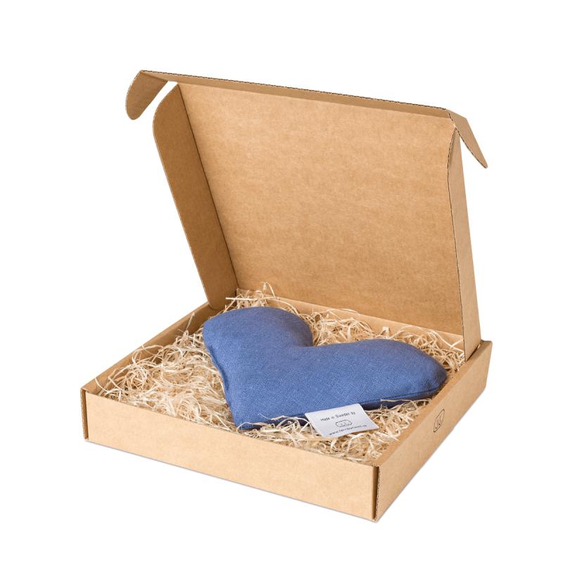 Denim sweetheart wheat warmer in box