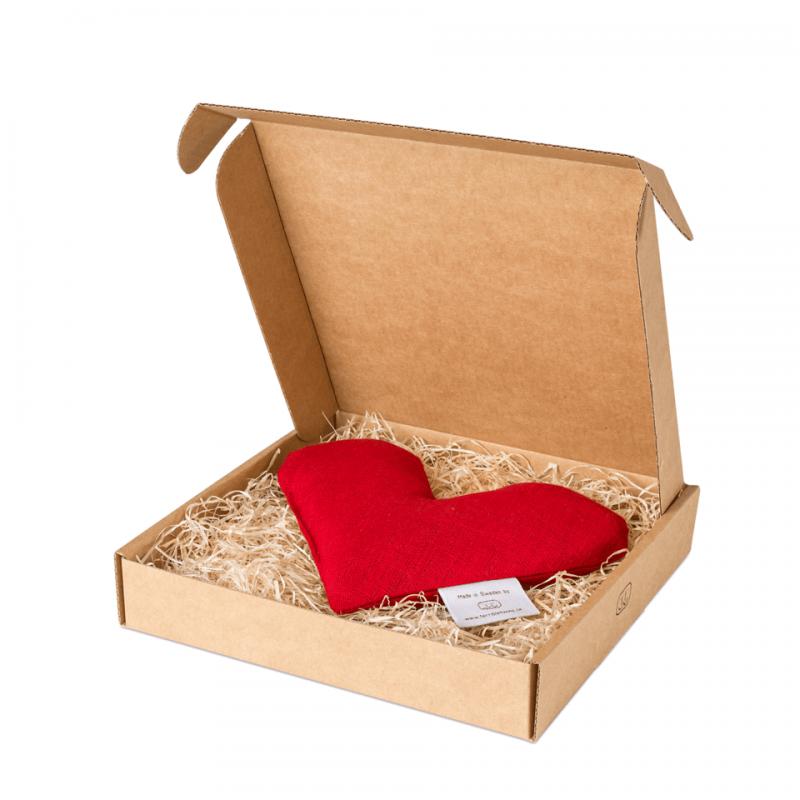 Red sweetheart wheat warmer in box