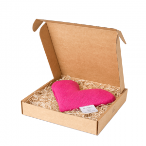 Pink sweetheart wheat warmer in box