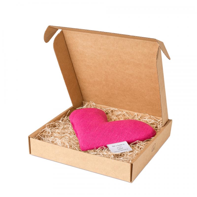 Pink sweetheart wheat warmer in box