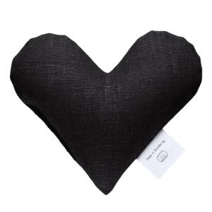 Black sweetheart wheat warmer in pure linen